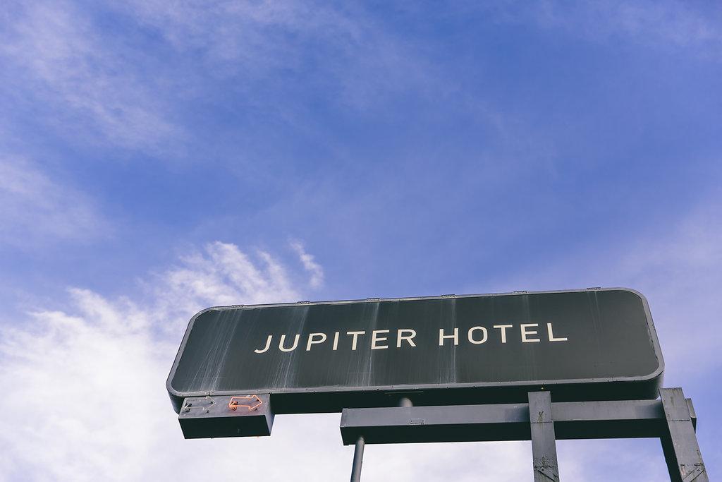 Jupiter Hotel billboard