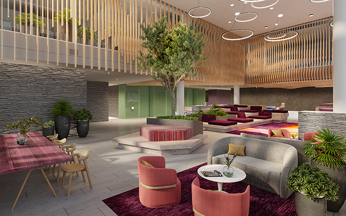 Work at 5MLK page with Image of Lounge