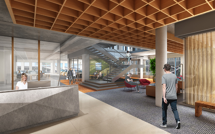 Work at 5MLK with Rendering Image of Lobby